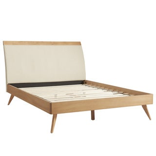 Penelope Tapered Leg Natural Oak Finish Platform Bed by MID-CENTURY LIVING