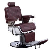 BarberPub Aluminum Alloy Hydraulic Recline Hair Salon Chair