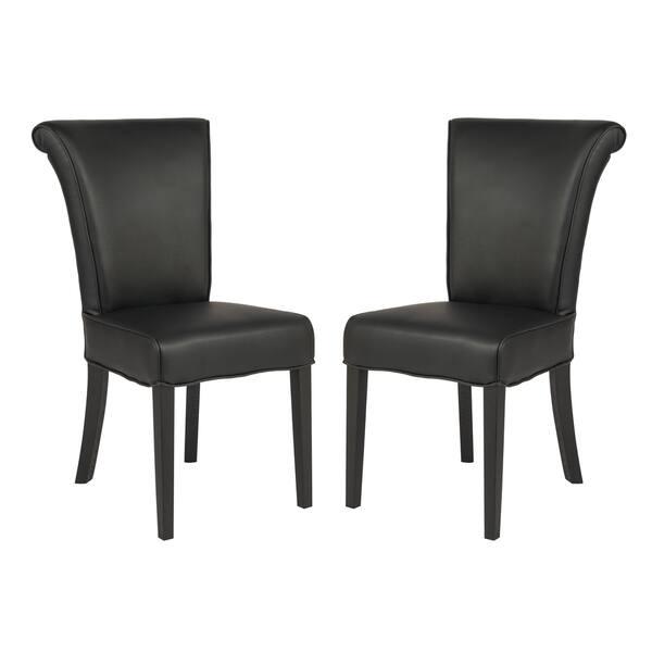 Admirable Shop Leisuremod Eden Contemporary Black Faux Leather Dining Pabps2019 Chair Design Images Pabps2019Com