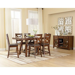 Omaha Brown Veneer Counter-height Table