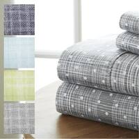 Merit Linens 4-piece Premium Polka Dot Pattern Bed Sheet Set