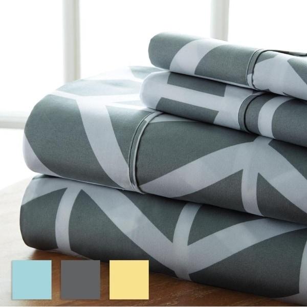 Merit Linens 4-piece Premium Ultra Soft Arrow Pattern Bed Sheet Set