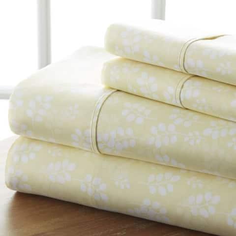 Merit Linens 4-piece Premium Ultra Soft Wheat Pattern Bed Sheet Set