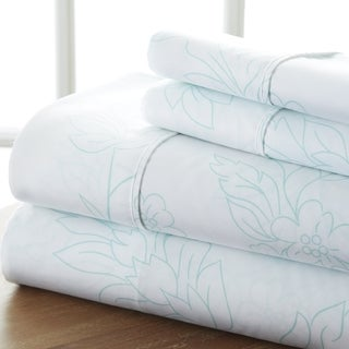 Merit Linens 4-piece Premium Ultra Soft Vine Pattern Bed Sheet Set