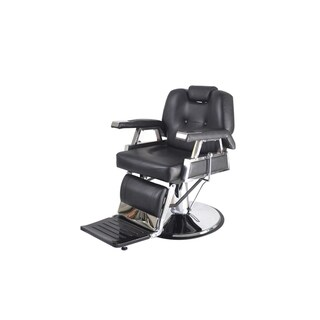 BarberPub Hydraulic Recline Black Hair Salon Chair