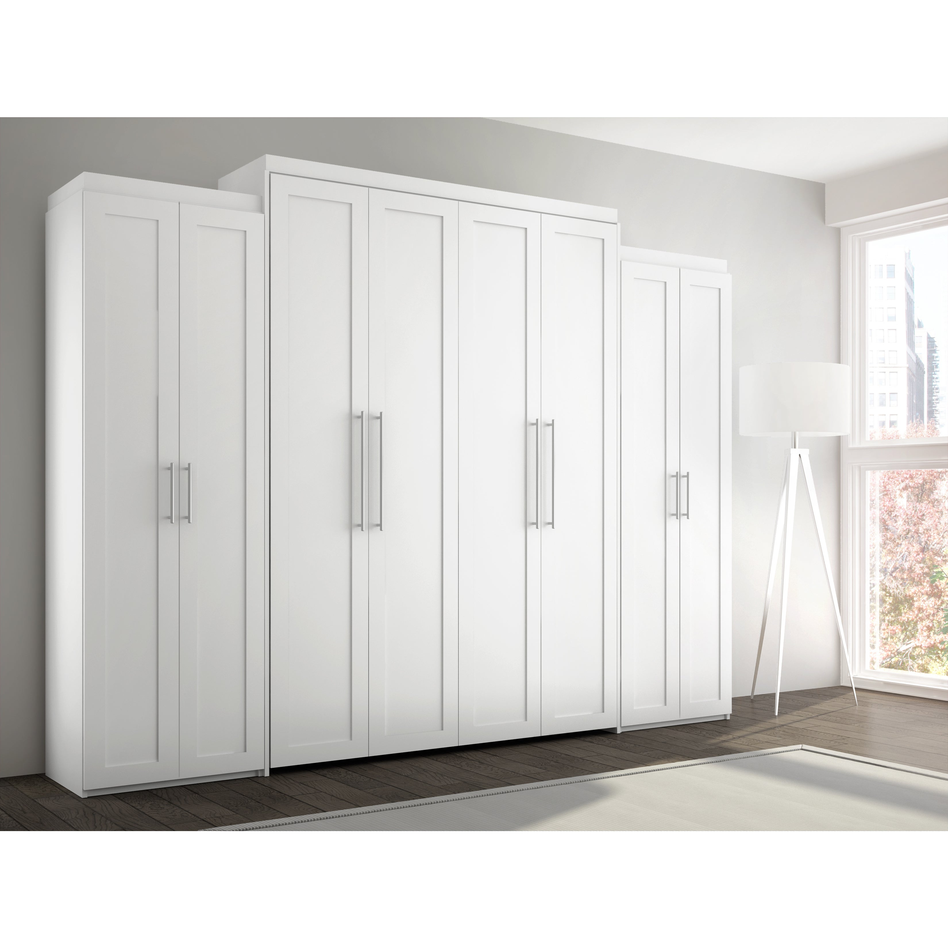 Stellar Home Furniture Shaker Full Wall Bed (White)