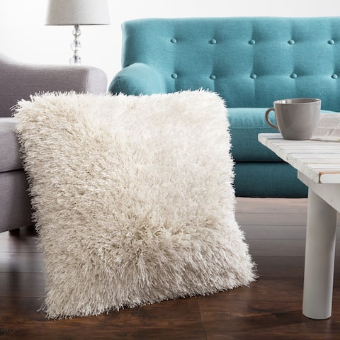 Oversized Floor or Throw Pillow Square Shag FauxFur by Windsor Home