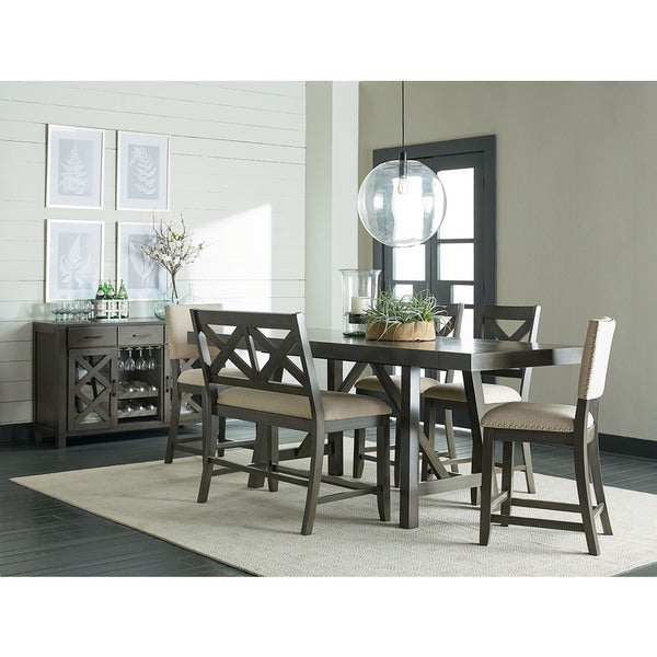 Kitchen Table Omaha: Shop Omaha Grey Wood Counter-height Table