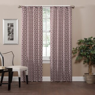 Eclipse Radnor Trellis Thermaweave Room-Darkening Single Curtain Panel