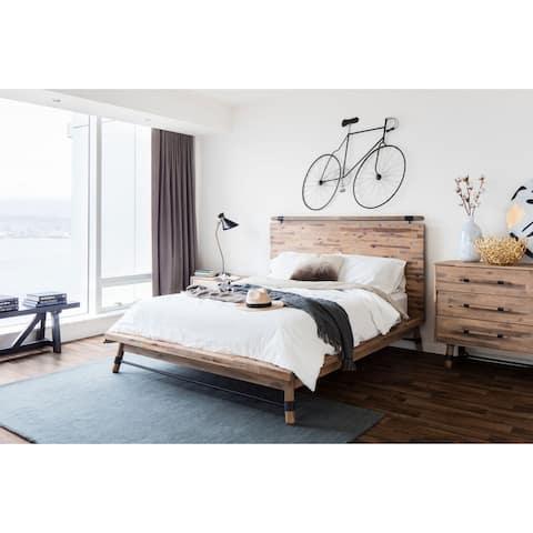 Aurelle Home Hinkle Rustic Panel Bed