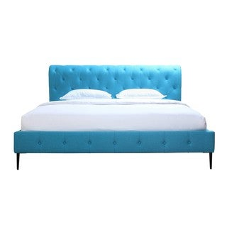 Winifred Peacock Blue Tufted Bed