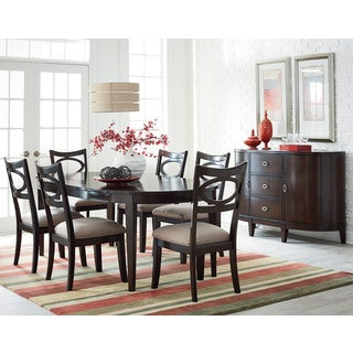 Serenity Cherry Finish Oval Dining Table