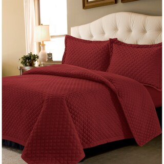 Brisbane Solid Oversized 3 Piece Quilt Set (More options available)