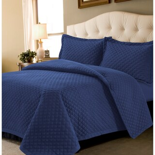 Brisbane Solid Oversized 3 Piece Quilt Set (3 options available)