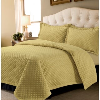 Brisbane Solid Oversized Quilt Set