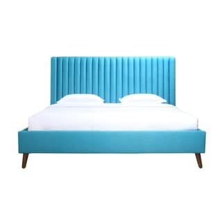Mid Century Modern Anders Blue Bed