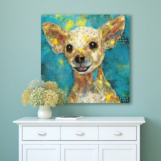 Portfolio Canvas Decor Art Dog Chihuahua Wrapped Canvas Wall Art - Brown