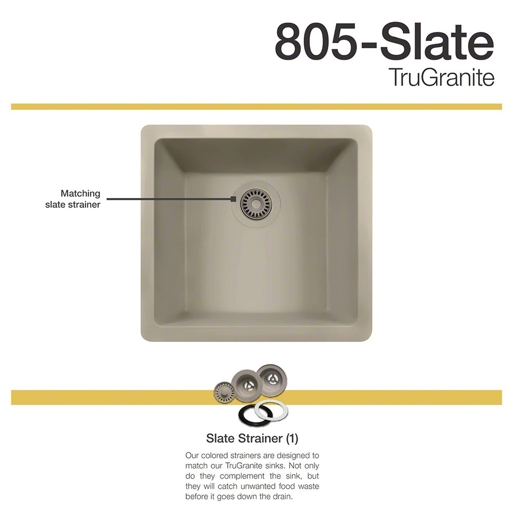 MR Direct 805 Slate Sink (strainer), Grey