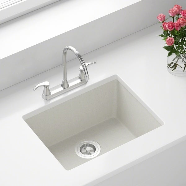 808 White Quartz Sink