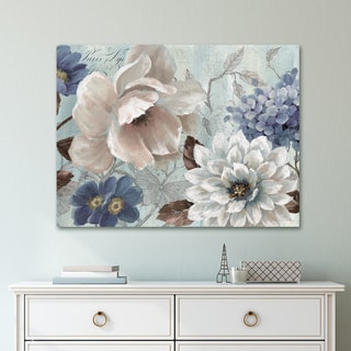 Portfolio Canvas Decor Light Blue Story Soft Wrapped Canvas Wall Art