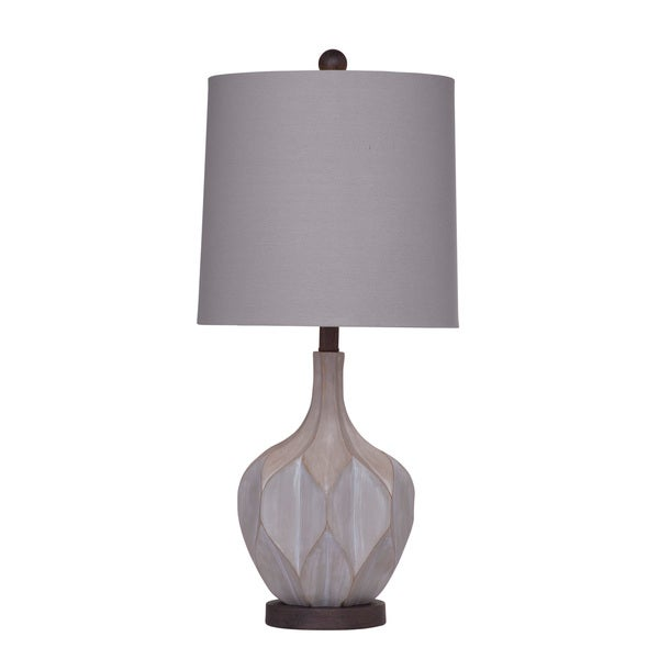 Lansing 23-inch Grey Resin Table Lamp