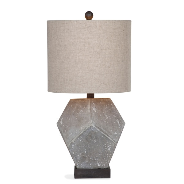 Wallace 28-inch Grey Resin Table Lamp