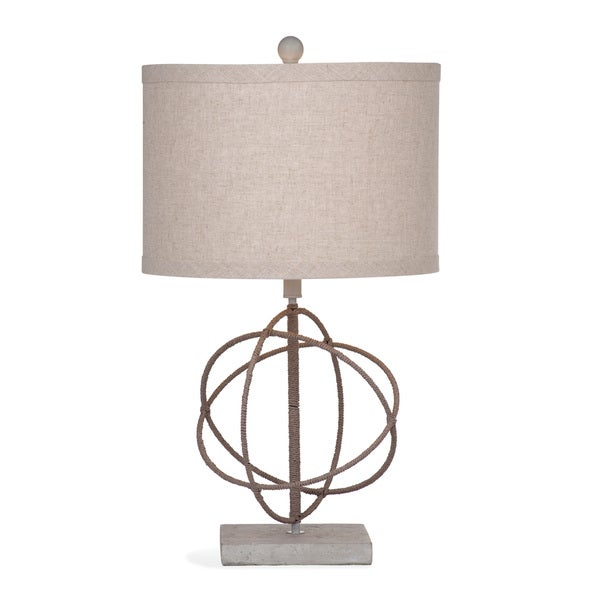 Caswell 28-inch Tan/ Grey Natural Table Lamp