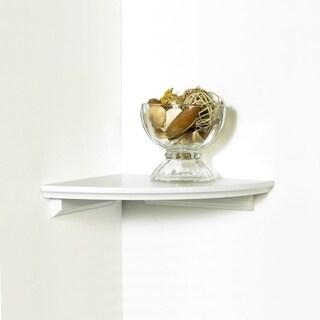 InPlace 12-inch White Corner Shelf Kit