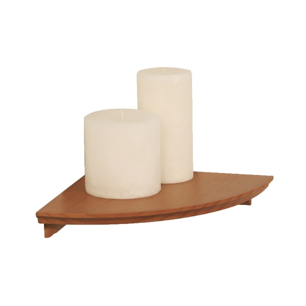 InPlace 10-inch Honey Oak Corner Shelf Kit (Brown)