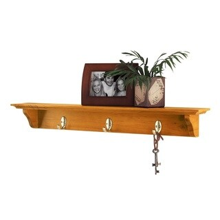 Lewis Hyman InPlace English Oak Hook Shelf 30 inches wide