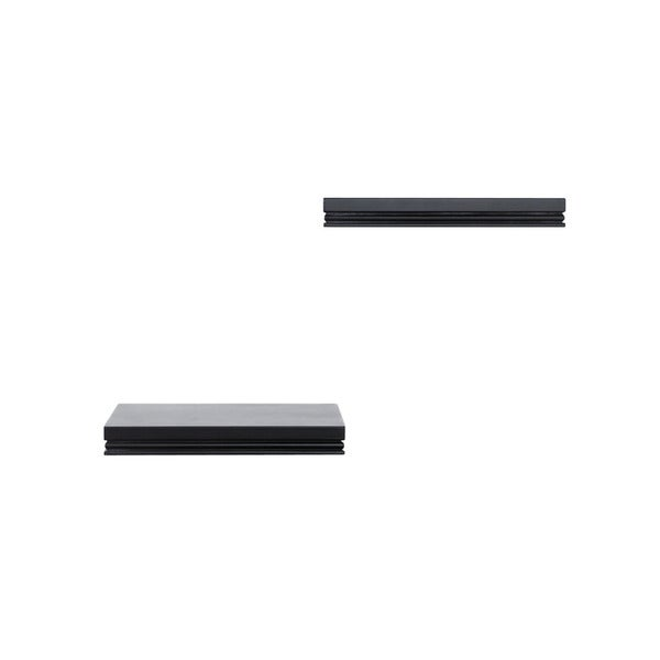 Lewis Hyman InPlace Warwick set of 2 Black Floating Wall Shelves 10 inches wide