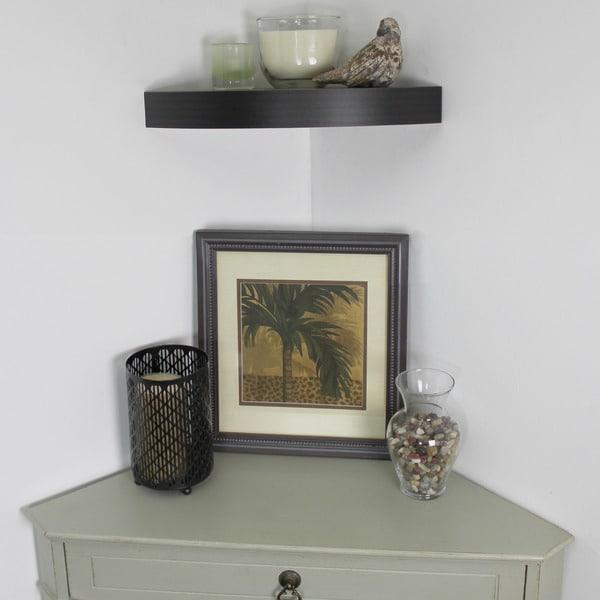Lewis Hyman InPlace Espresso Floating Corner Shelf 11.8 inches wide