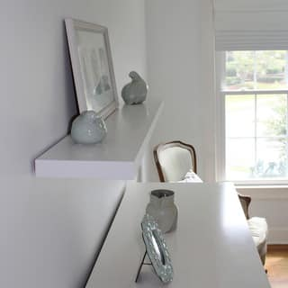 Lewis Hyman InPlace White Floating Wall Shelf 23.6 inches wide|https://ak1.ostkcdn.com/images/products/14369787/P20943907.jpg?impolicy=medium