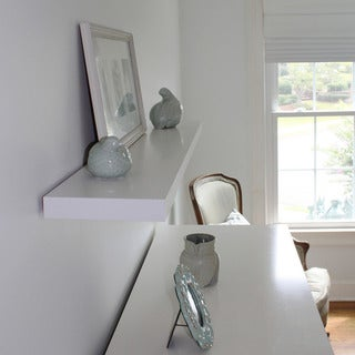 lewis hyman inplace white floating wall shelf 473 inches wide
