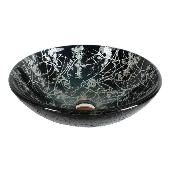 Dawn® Tempered Glass Handmade Vessel Sink Round Shape