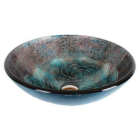 Dawn® Tempered glass handmade vessel sink-round shape