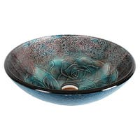 Dawn® Tempered glass handmade vessel sink-round shape