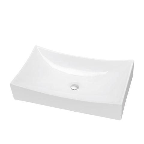 Dawn Vessel Above-counter Rectangle Ceramic Art Basin Sink