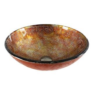 Dawn Tempered Glass Handmade Round Vessel Sink