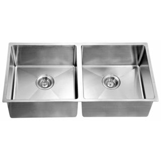 Dawn® Undermount Extra Small Corner Radius Equal Double Bowls