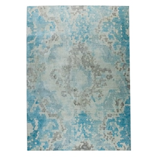 M.A.Trading Hand Woven Omaha Blue/Beige (8'x10')