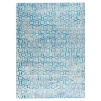 M.A.Trading Hand Woven Tampa Blue (India) - 9'x12'
