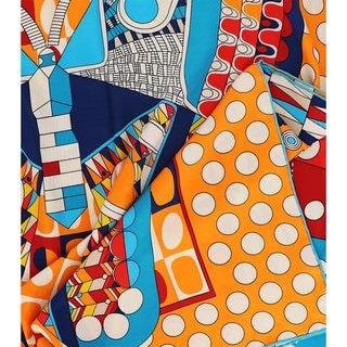 LA77 Butterfly Motif Print Scarf
