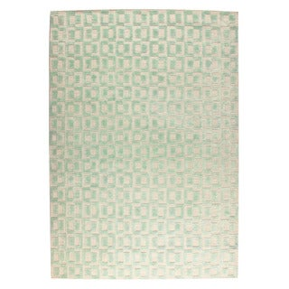 M.A.Trading Hand Woven Yonkers Aqua (9'x12') (India)
