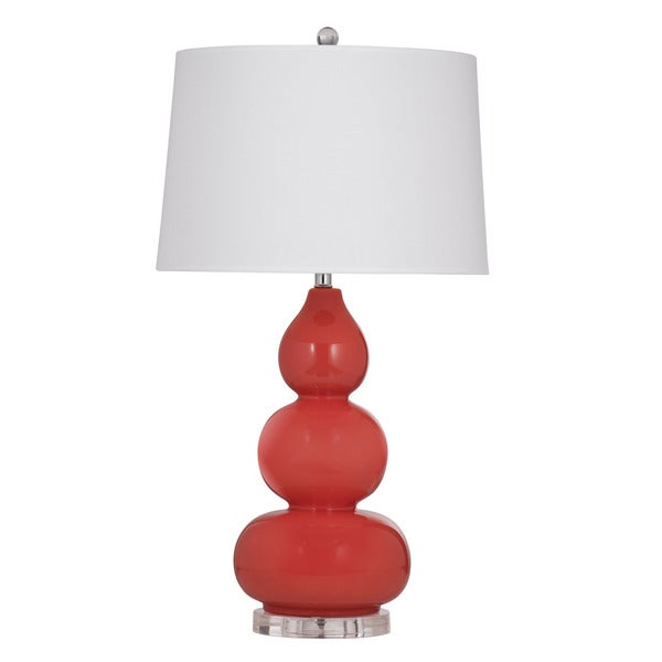 Whalan 33-inch Coral Ceramic Table Lamp