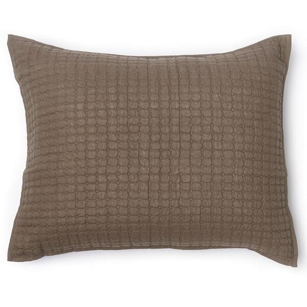 Karina Walnut Brown Linen Standard Sham