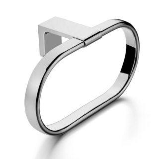 Maykke Dash Towel Ring, Polished Chrome
