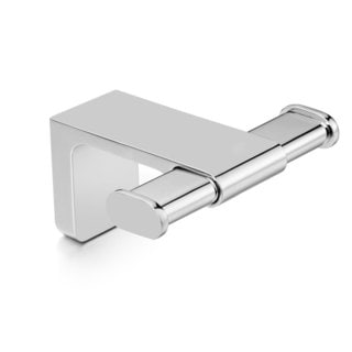 Dash Polished Chrome Brass Double Robe Hook