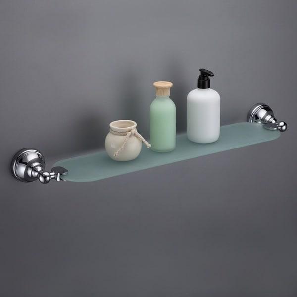 Maykke Boulder Glass Shelf