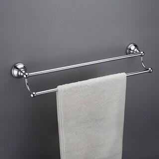 Boulder Brass 18-inch Double Towel Bar